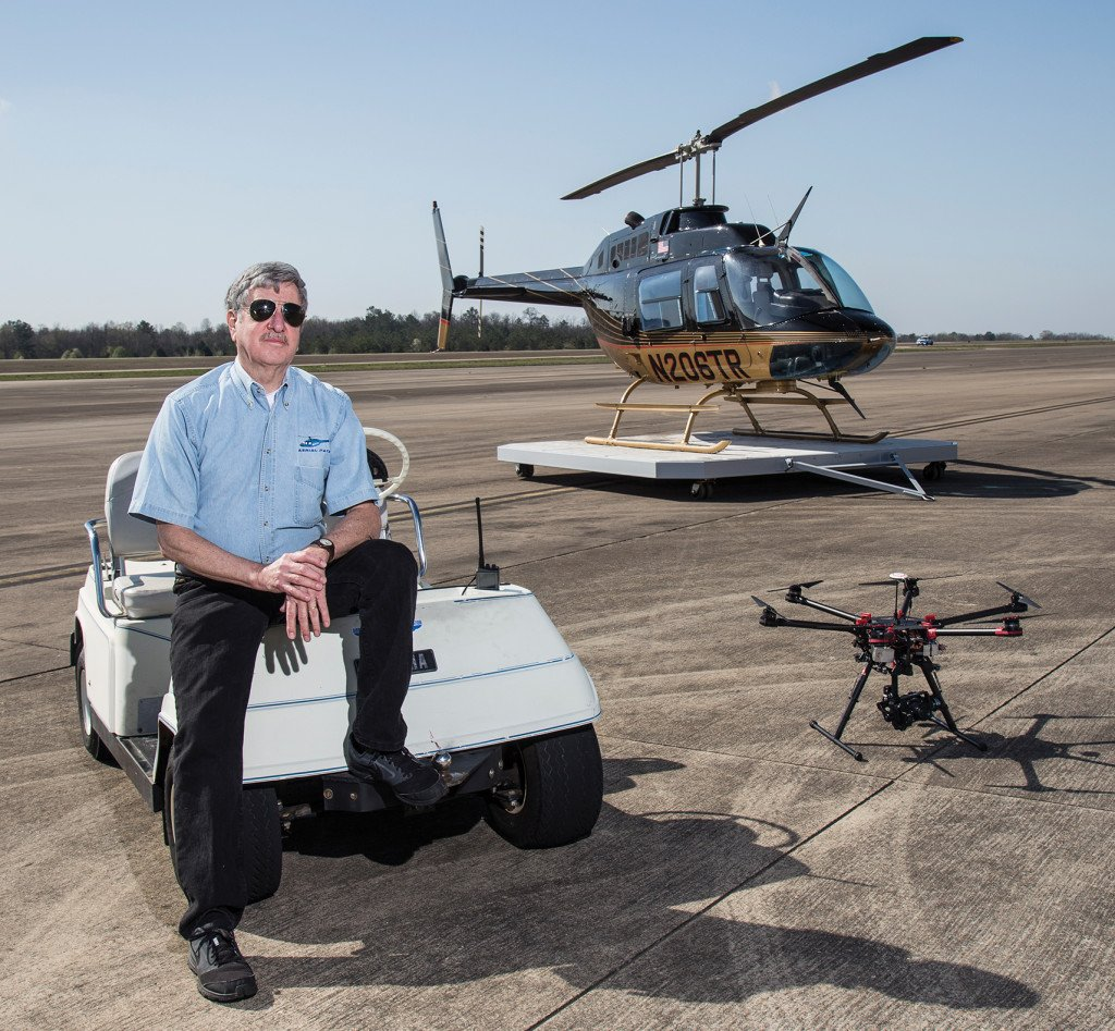 Already in the helicopter business, Zane Anderson, owner of Aerial Patrol Inc., hopes to capitalize on the emerging drone industry.