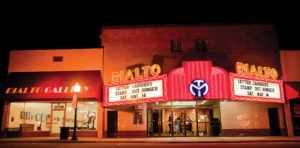 The Rialto Theatre in Morrilton today with the art gallery to the left. Photograph courtesy of the venue.