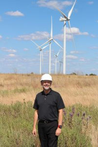 Duane Highley at the Origin Wind Farm