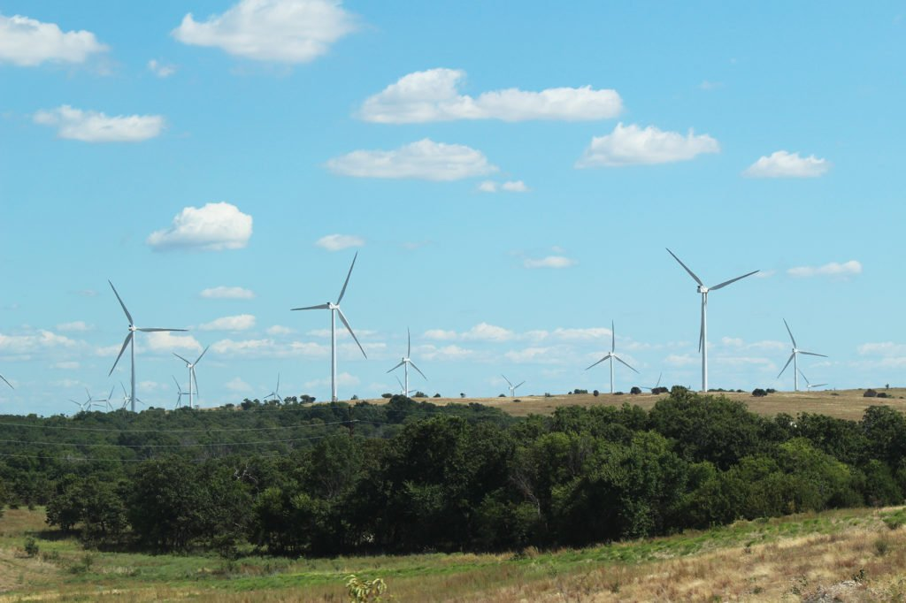 The Origin Wind Farm in Oklahoma, which supplies power for the Electric Cooperatives of Arkansas.