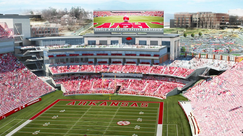 Projected renovations for Don Reynolds Stadium photo from http://arkansasrazorbacks.com/dwrrs/#prettyPhoto