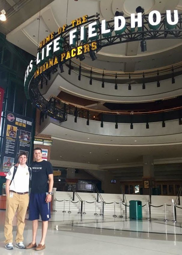 Johnny Carver at the Indiana Pacer's arena in Indianapolis.