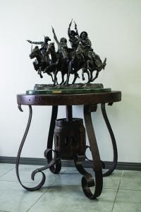 Sculpture on table