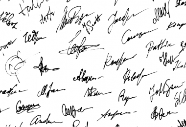 Black signatures on a white background. Arkansas has several ballot measures voters can sign.