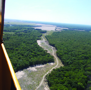 The pipeline from the White River to the Grand Prairie.