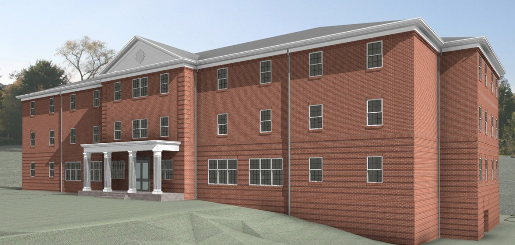 Rendering of one of the two residence halls that SAU plans to open by fall 2016.