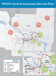 A campaign to increase sales tax to fund Rock Region Metro's expansion, called MOVE Central Arkansas, failed in March, but officials are planning for another vote.